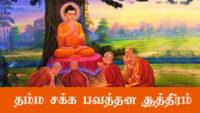 தம்மசக்க பவத்தன சூத்திரம் buddhist teachings in tamil